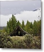 Low Clouds On The Mountain Metal Print