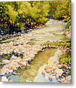 Low Flowing Creek Metal Print