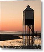 Low Lighthouse Sunset Metal Print