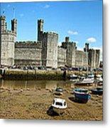Low Tide At Caernarfon Metal Print by Jane Rix