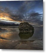 Low Tide At Cannon Beach Oregon Metal Print