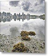 Low Tide At False Creek In Stanley Park Metal Print
