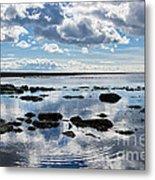 Low Tide At Lyme Regis 2 Metal Print