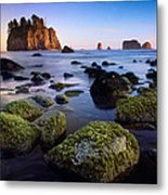 Low Tide At Second Beach Metal Print