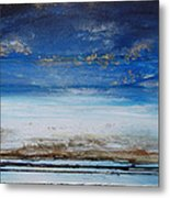 Low Tide Beach Rhythms And Textures Blue Series1 Metal Print by Mike   Bell