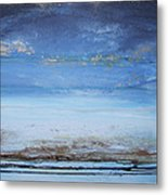 Low Tide Beach Rhythms And Textures Blue Series1a Metal Print by Mike   Bell