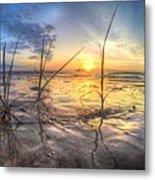 Low Tide In Crystal Beach Metal Print