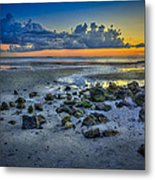 Low Tide On The Bay Metal Print