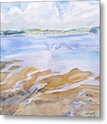 Low Tide - Penobscot Bay Metal Print