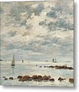 Low Tide Saint Vaast La Hougue Metal Print
