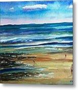 Low Tide Wells Beach Maine Metal Print