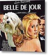 Lowchen Art - Belle De Jour Movie Poster Metal Print