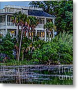 Lowcountry Home On The Wando River Metal Print