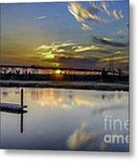 Lowcountry Marina Sunset Metal Print