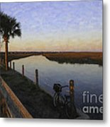Lowcountry Winter Marsh Metal Print
