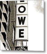 Lowe Drug Store Sign Bw Metal Print by Andee Design