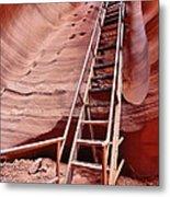 Lower Antelope Canyon Ladder Metal Print