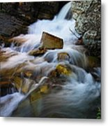 Lower Apikumi Falls Glacier National Park Metal Print