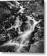 Lower Bridal Veil Falls 2 Bw Metal Print