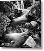Lower Bridal Veil Falls 3 Bw Metal Print