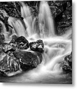 Lower Bridal Veil Falls 5 Bw Metal Print