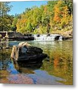Lower Falls And Stream Metal Print