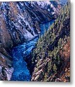 Lower Falls Into Yellowstone River Metal Print