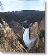 Lower Falls Of The Yellowstone River Metal Print