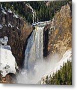 Lower Falls Of The Yellowstone Metal Print