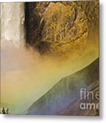 Lower Falls Rainbow - Yellowstone Metal Print