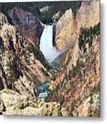 Lower Falls Yellowstone Metal Print