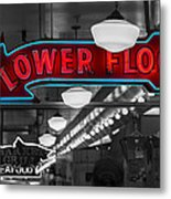 Lower Floor Selective Black And White Metal Print