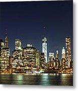 Lower Manhatten Pano Metal Print