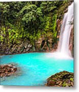 Lower Rio Celeste Waterfall Metal Print by Andres Leon