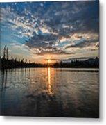 Lower Sunset Lake Metal Print
