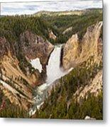 Lower Yellowstone Canyon Falls Metal Print