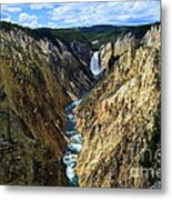 Lower Yellowstone Falls Panorama 2 Metal Print