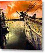 Lsu Shrimp Boat Metal Print