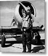 Lt. Robert Taylor, Usnr, Standing Metal Print