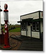 Lubrication Center Hardin Montana Metal Print by Jeff Swan