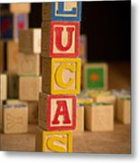 Lucas - Alphabet Blocks Metal Print