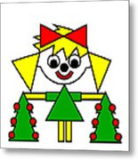 Lucca With Christmas Trees Wishes You A Merry Christmas Metal Print