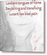 Lucent Lips Metal Print