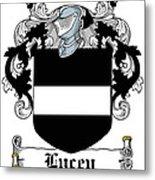 Lucey Coat Of Arms Irish Metal Print