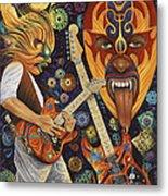 Lucha Rock Metal Print
