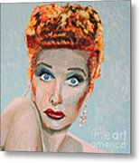 Lucille Ball Portrait Metal Print