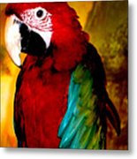 Lucky Look Bird Metal Print