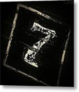 Lucky Number Seven Metal Print