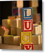Lucy - Alphabet Blocks Metal Print