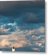 Ludington North Breakwater Lighthouse At Sunrise Metal Print